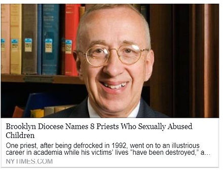 Brooklyn Diocese Names 8 Priests WHo Sexually Abused Children.  Contact Laura Ahearn, Esq. IRCP completion.