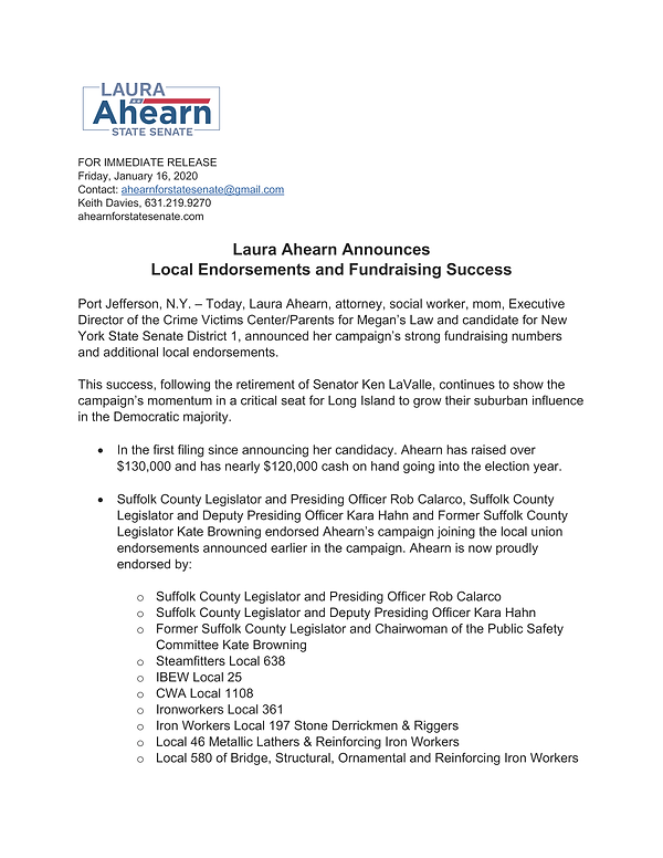 Ahearn Filing and Endorsement Release_Pa