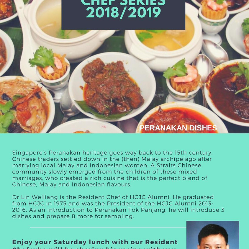 Celebrity Chef Series 2018 / 2019: Peranakan chapter
