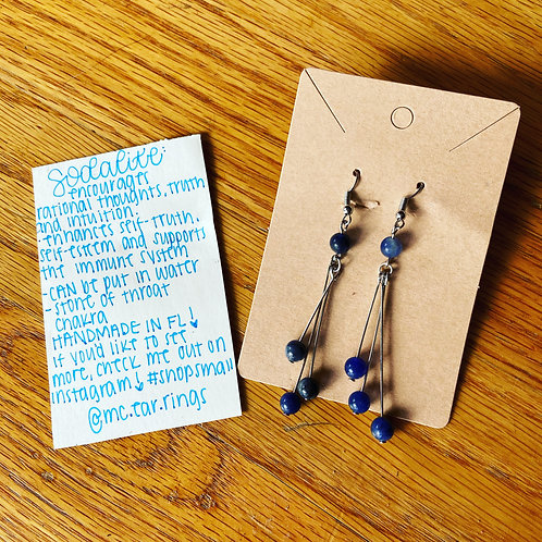 Blueberry dangle earrings