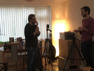 Groceries short film - on set