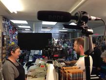 Lovley Cuppa short film - on set