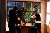 Deranged short film - on set