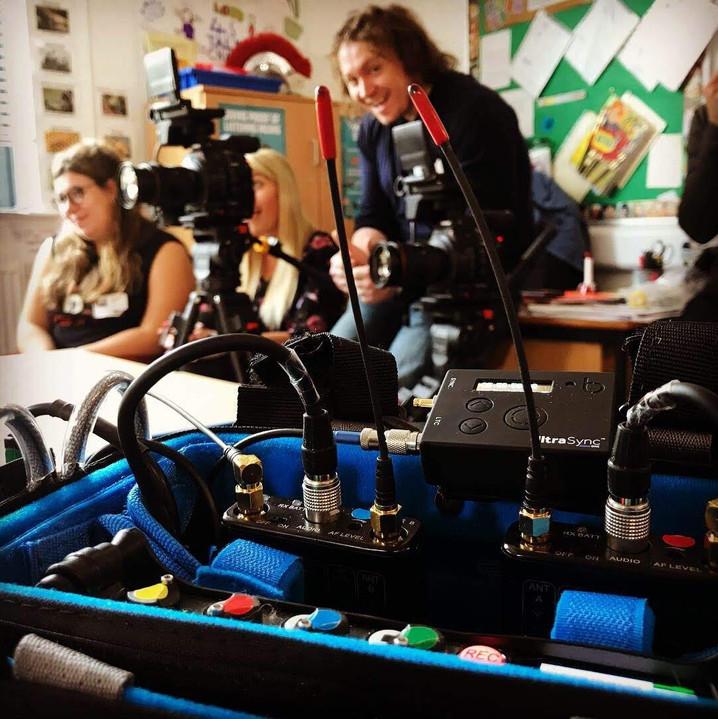 DfE on set