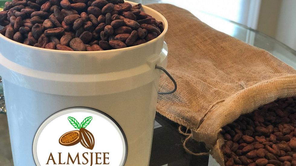 1 kilogram of Sample Raw Organic Cocoa Beans