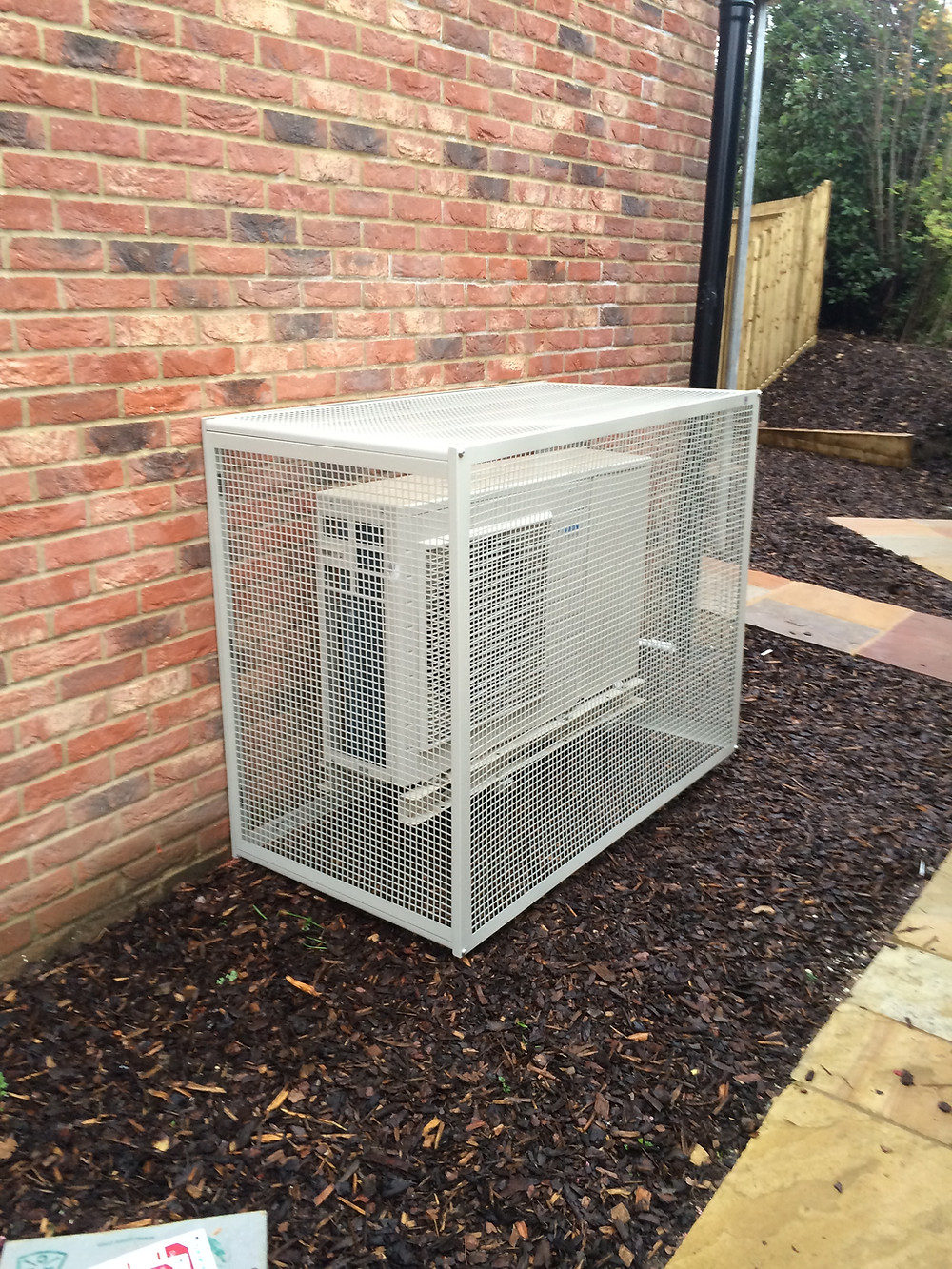 Air Source Heat Pump Installed Outside House