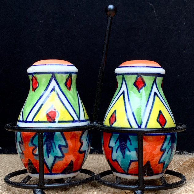 Fiesta Style Salt and Pepper Shaker Set