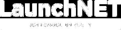 LaunchNET logo white w tranp background.