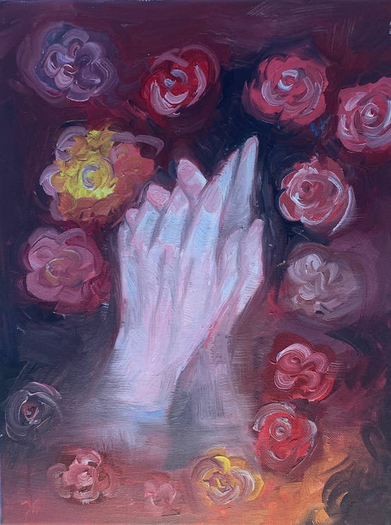 Roses Hands
