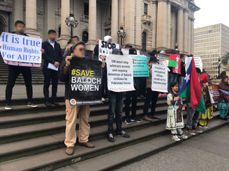 BNM Australia protests against enforced disappearances by Pakistan