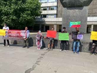 Germany: BNM held a protest against enforced disappearance of Baloch people