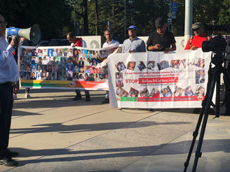 BNM held a protest demonstration in Geneva