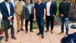 Representatives of Baloch National Movement UK Zone meet with British Minister Grant Shapps.