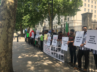BNM protest in London against abduction of Baloch women