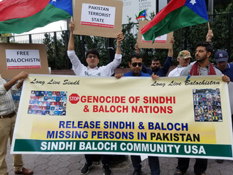 Baloch, Sindhis Protest at UN, New York against Pakistani Atrocities and War Crimes