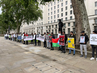 A protest held in London against 12 years disappearance of Dr. Deen Mohammad Baloch. BNM