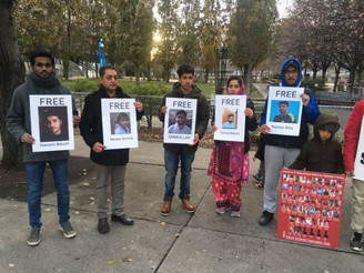 Toronto Protest Demands Freedom for BSO-Azad Leader Sanaullah Baloch and others