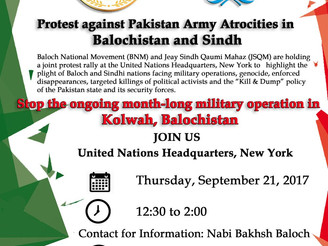 USA: BNM and JSQM protest against HR violations in Balochistan and Sindh