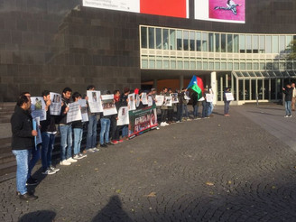 A protest held in Germany against Pakistani atrocities. BNM