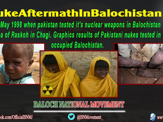 پاکستان کے ایٹمی دھماکوں نے بلوچ کو کثیرالجہتی نقصانات سے دوچار کیا۔بی این ایم آن لائن اجلاس