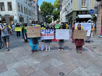 A Demonstration held by BNM in Germany against Pakistani barbarism