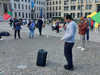 Baloch National Movement Germany Zone organizes a protest in Berlin on Saturday.