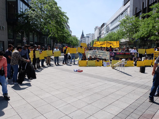 Worldwide protests by BNM against nuclear tests in Balochistan
