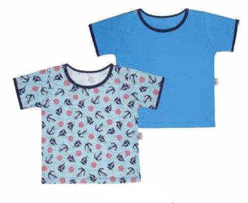 Kit 11004 com 2 camisetas. Tam. 9 a 12 meses