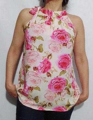 Blusa 104 Lacinho no pescoço Tam. único