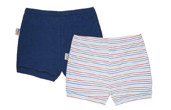 Kit 14004 com 2 Shorts. Tam. 9 a 12 meses