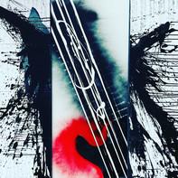 """""""GUITAR PUNK"""" (Triptychon)   Acryl auf Leinwand  160 x 160 cm   2019"""