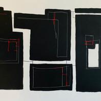 """BLACK STONES""   WV Nr. 268   Acryl auf Leinwand   120 x 80 cm   2019"