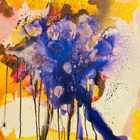 """""""Flowers""""   WV Nr. 313   Mischtechnik auf Leinwand   80 x 120 cm   2020"""