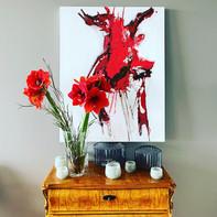 """""""Lobster""""  WV Nr. 333   80 x 100 cm   Acryl auf Leinwand   2020   SOLD"""