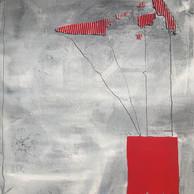 """KITE IN THE WIND"" | WV Nr. 299 | Mischtechnik | 80 x 120 cm | 2020"