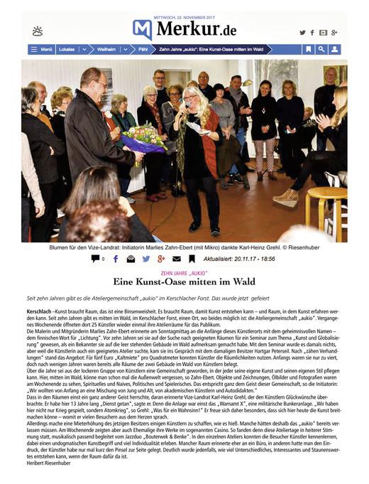"""MERKUR: """"EINE KUNST-OASE MITTEN IM WALD"""""""