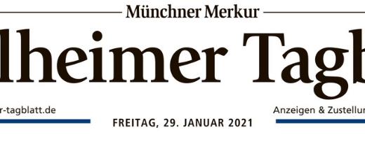 "29.Januar 2021 | WEILHEIMER TAGBLATT: ""KREATIV DURCH DIE KRISE"""