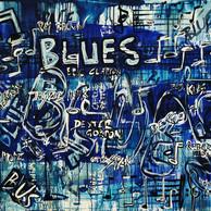 """BLUES 1"" |  WV Nr. 341 | Mischtechnik auf Leinwand | 120 x 80 cm | 2019"