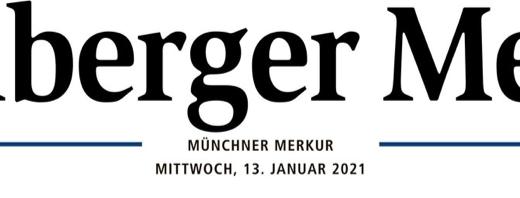 "13.JANUAR 2021: STARNBERGER MERKUR PUBLIZIERT ARTIKEL ÜBER AKTION ""KUNST TROTZ(T) CORONA"""