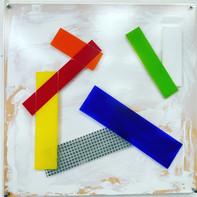 """NO REFLECTIONS""  WV Nr. 325   Michtechnik mit Plexiglasfront   100 x 100 cm   2020   SOLD"