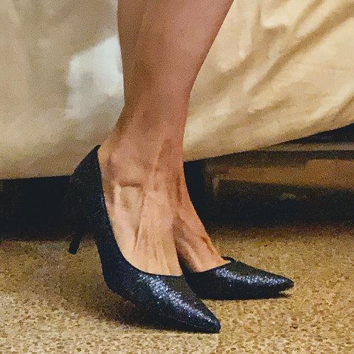 Zapatillas Marca NINA Escarcha Azul