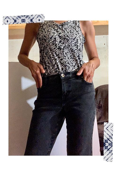 Jeans Style & Co Negro Deslavado
