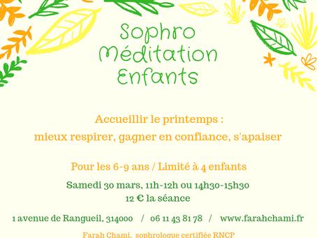 Atelier Sophro-Méditation Enfants - Confiance