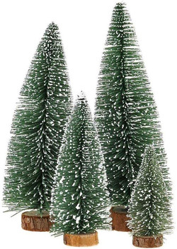 frosted bottle brush tree