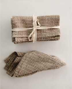 brown woven napkin