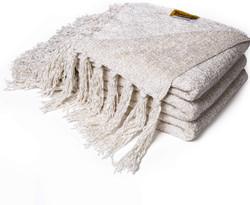 ivory chenille throw blanket