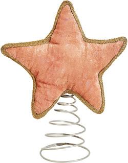 blush velvet star tree topper