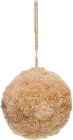 fuzzy ball ornament