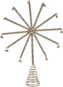 jingle bell bead star tree topper