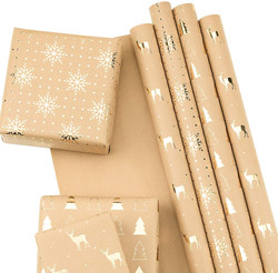 gold and paper wrapping paper